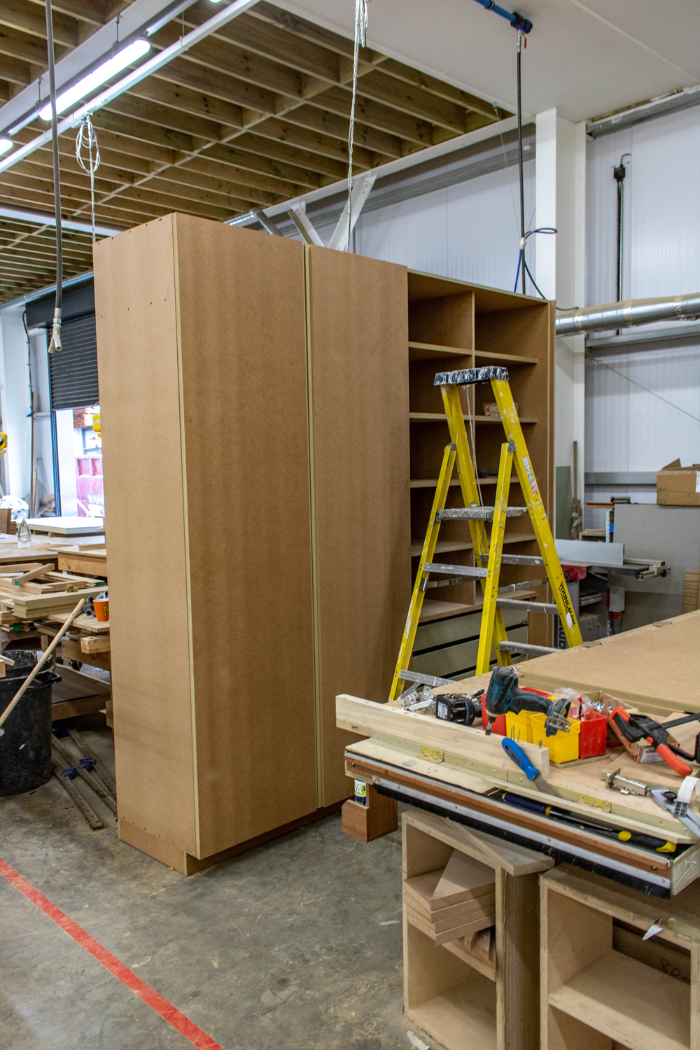 large wardrobe in k&d joinery workshop