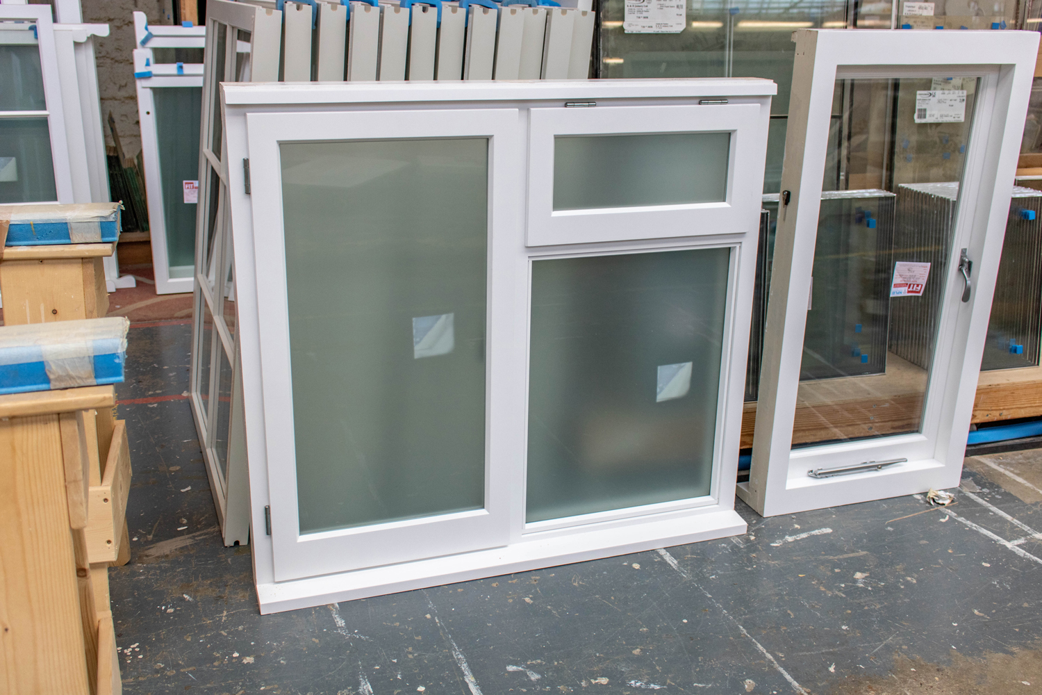 pvc double glazing frosted glass windows