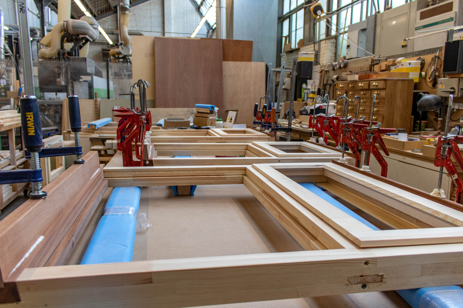 k&d wood joinery in workshop