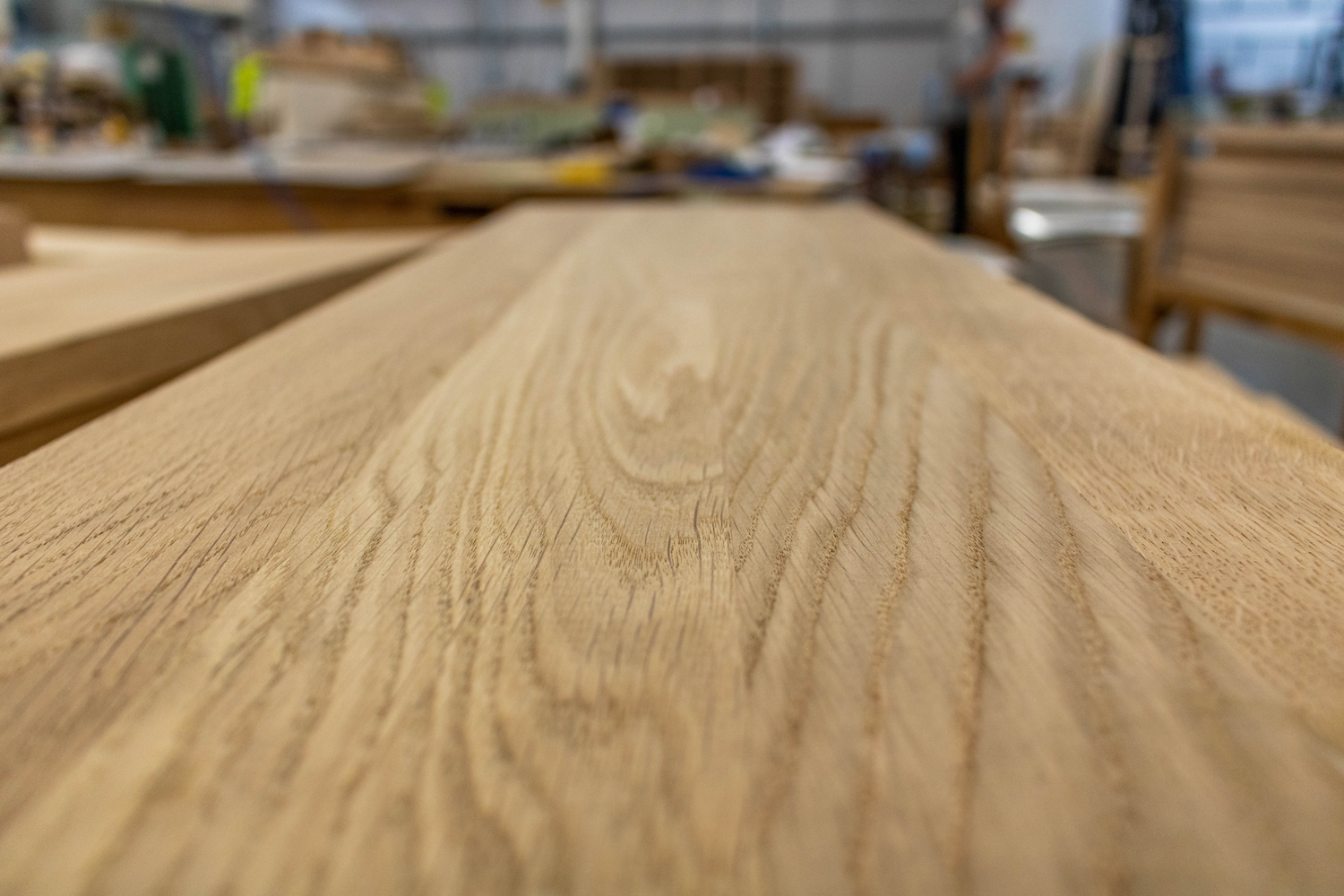 wood panel in k&d joinery workshop